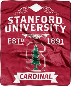 NCAA Stanford Univ Label Raschel Throw
