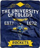 NCAA University of Toldeo Label Raschel Throw