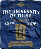 NCAA University of Tulsa Label Raschel Throw