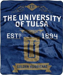 NCAA University of Tulsa Label Raschel Throw