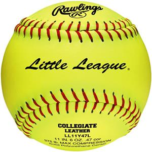 "Rawlings 11"" Little League Fast Pitch Softballs"
