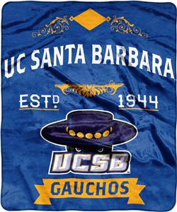 NCAA UC Santa Barbara Label Raschel Throw
