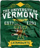 NCAA University of Vermont Label Raschel Throw