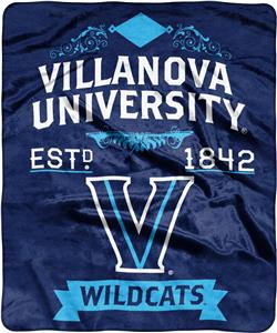 NCAA Villanova University Label Raschel Throw