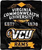 NCAA Virginia Commmonwealth Label Raschel Throw