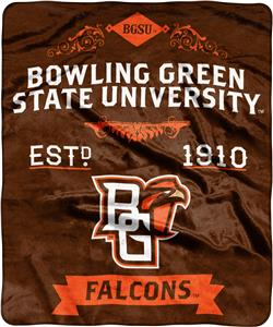 NCAA Bowling Green State Label Raschel Throw