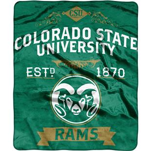 NCAA Colorado State Label Raschel Throw