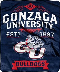 NCAA Gonzaga Label Raschel Throw
