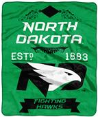 NCAA North Dakota Label Raschel Throw