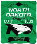 NCAA North Dakota Label Raschel Throw