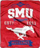 NCAA Southern Methodist Label Raschel Throw