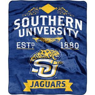 NCAA Southern University Label Raschel Throw