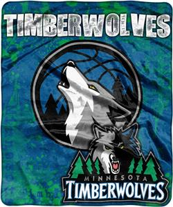 Northwest NBA Timberwolves Dropdown Raschel Throw