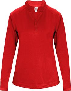 Badger Sport 1/4 Zip Poly Fleece Ladies Pullover