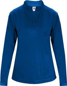 Badger Sport 1/4 Zip Poly Fleece Ladies Pullover