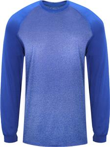 Badger Sport Adult Tonal Sport Heather L/S Tee