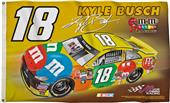 BSI NASCAR Kyle Busch #18 2-Sided 3' x 5' Flag