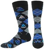 Wright Avenue Sailboats Novelty Cotton Crew Sock