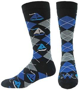 Wright Avenue Sailboats Novelty Cotton Crew Sock