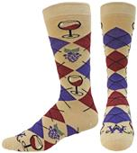 Wright Avenue Vino Novelty Cotton Crew Sock