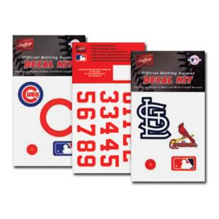 Rawlings MLB Team Decal Kits Batting Helmet Decals