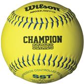 Wilson USSSA Fastpitch Leather Softballs (dozen)