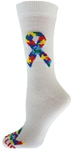 Red Lion Puzzle Ribbon Crew Socks