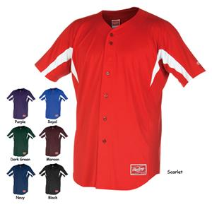 "Rawlings ""Triple"" Full Button Baseball Jerseys"