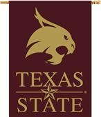 "College Texas State Bobcats 2-Sided 28""x40"" Banner"