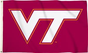 Collegiate Virginia Tech 3' x 5' Flag w/Grommets
