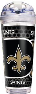NFL New Orleans Saints Acrylic Tumbler w/ Straw