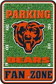 NFL Chicago Bears Plastic Parking Sign