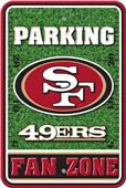 NFL San Francisco 49er's Plastic Parking Sign