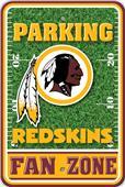 NFL Washington Redskins Plastic Parking Sign