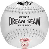 "Rawlings 12"" ASA Dream Seam Fastpitch Softballs"