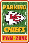 NFL Kansas City Chiefs Plastic Parking Sign