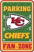NFL Kansas City Chiefs Plastic Parking Sign
