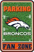 NFL Denver Broncos Plastic Parking Sign