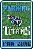 NFL Tennessee Titans Plastic Parking Sign