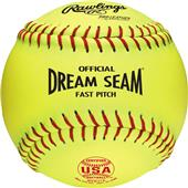 "12"" ASA NFHS Fastpitch Dream Seam Yellow Softball"