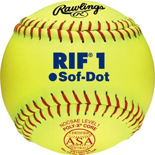 "Rawlings 10"" RIF 1 Sof-Dot ASA Fastpitch Softballs"