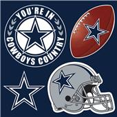 NFL Dallas Cowboys 4 Piece Magnet Set