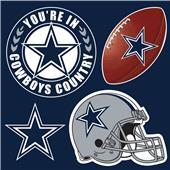 NFL Dallas Cowboys 4 Piece Magnet Set