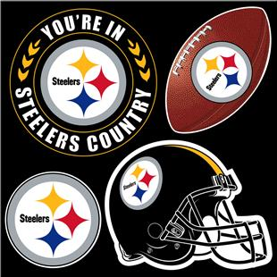 NFL Pittsburgh Steelers 4 Piece Magnet Set