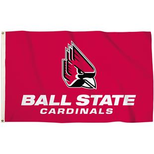 Collegiate Ball State 3'x5' Flag w/Grommets