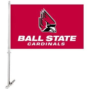 Collegiate Ball State 2-Sided 11x18 Car Flag