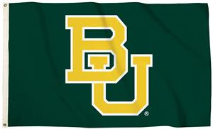 "Collegiate Baylor ""BU"" 3'x5' Flag w/Grommets"