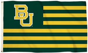 Collegiate Baylor Stripes 3'x5' Flag w/Grommets