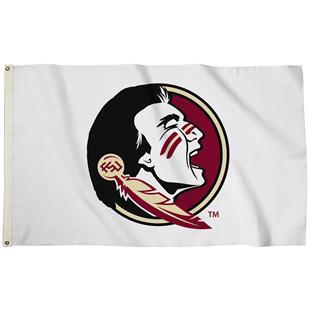 Collegiate Florida St White 3'x5' Flag w/Grommets