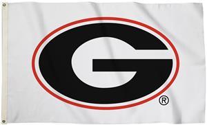 "Collegiate Georgia ""G"" 3'x5' Flag w/Grommets"